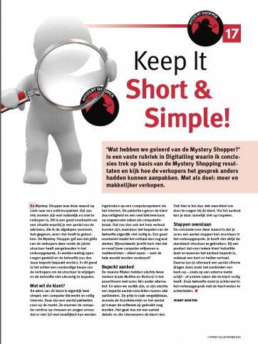 Keep It Short & Simple